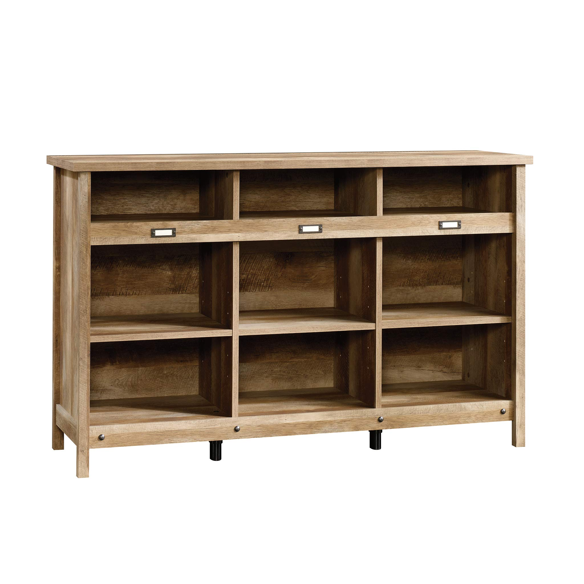 Sauder 418344 Adept Storage Credenza, L: 58.19'' x W: 17.17'' x H: 36.26'', Craftsman Oak finish by Sauder
