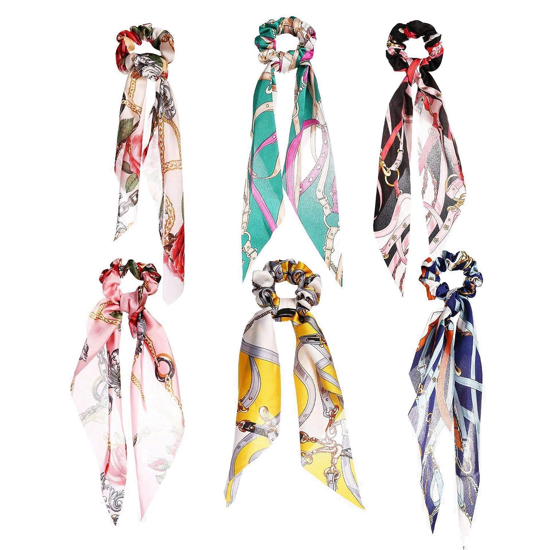 Beautyplay 12//10//9//6 Pezzi Fascia per Capelli Donna Annata Fiore Stampato Criss Cross elastiche Turbante Fasce Yoga Flower Printing Hair Accessories