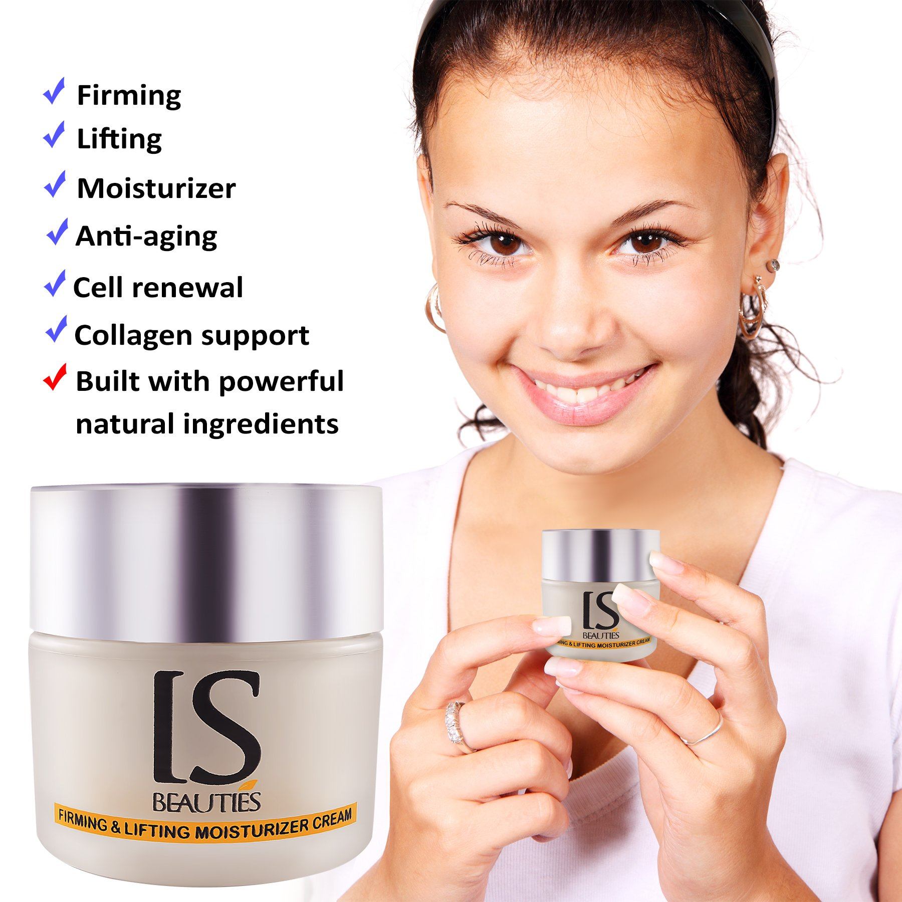 IS Beauties Anti Aging Cream - Skin Firming and Lifting Plus Moisturizer and Cell Renewal With Collagen Support For Face and Neck - Deep Moisturizing With Extra Lift and Firm For Women and Men
