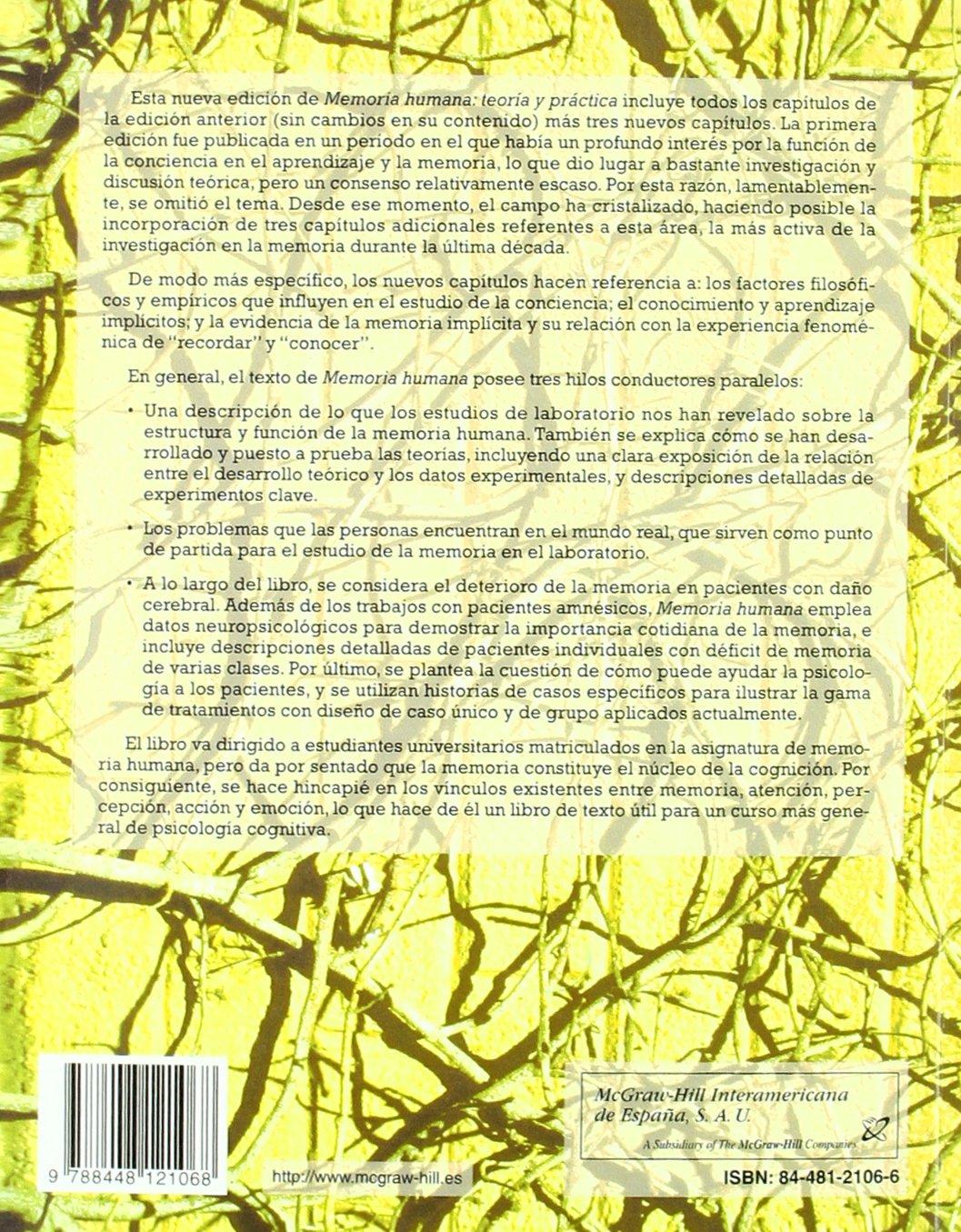 Memoria Humana Teoría Y Práctica Alan D Baddeley