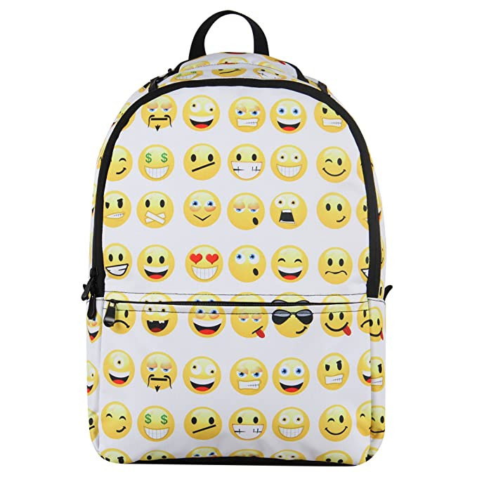 a419b0e116 Hynes Eagle Printed Emoji Backpack (Emoji-White)