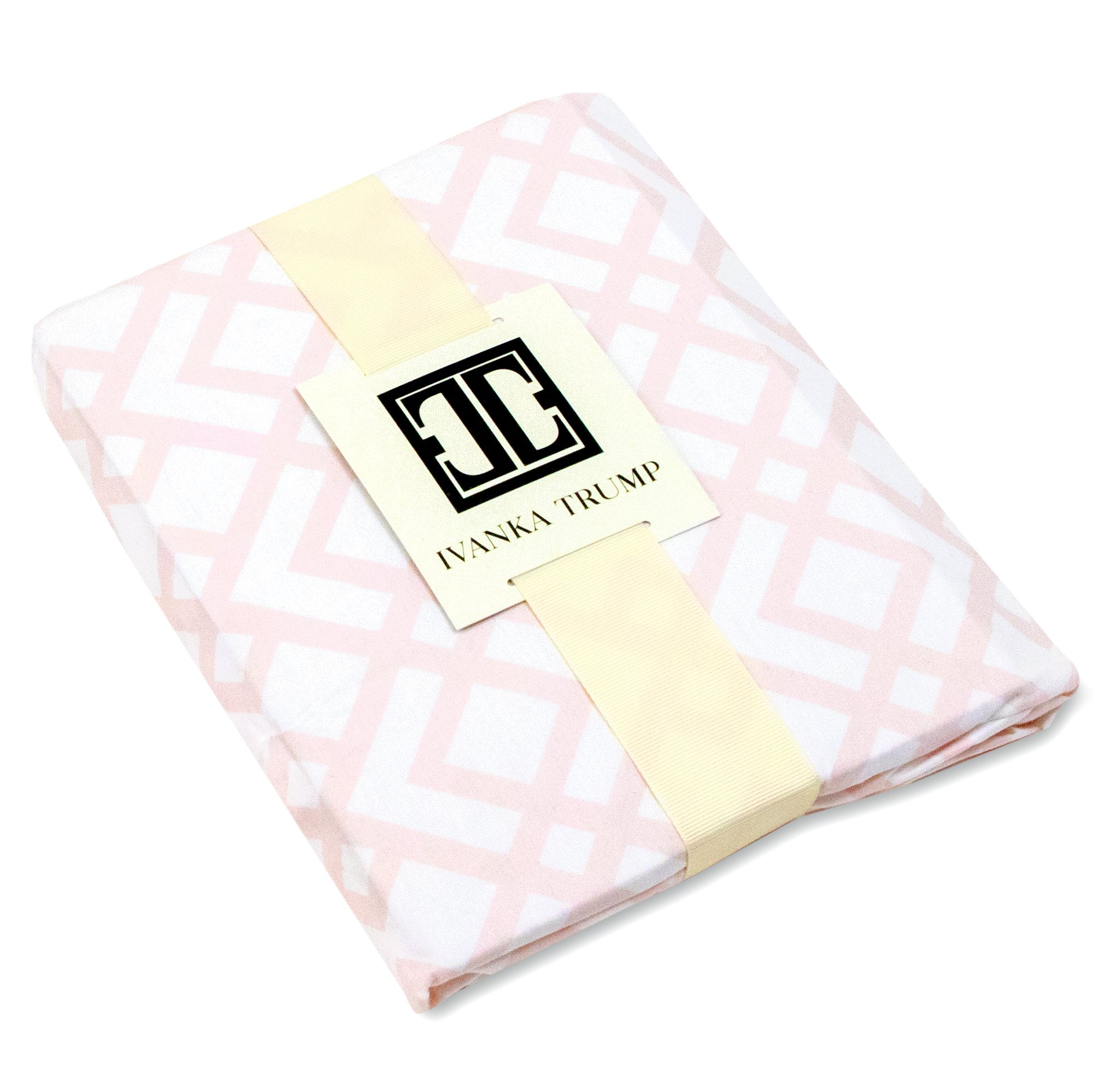 Amazon.com : Ivanka Trump Wildflower Collection: Nursery Bedding Baby Crib Bedding Fitted Sheet 100% Cotton 200 Thread Count - Pink and White Trellis : Baby