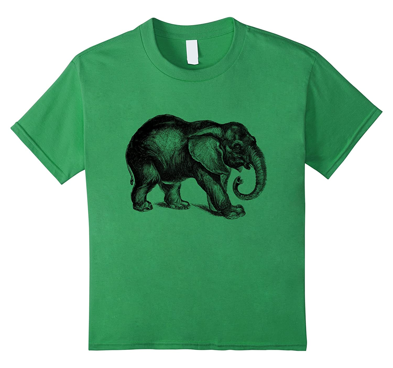 Happy Jungle Elephant T Shirt Heather-Awarplus