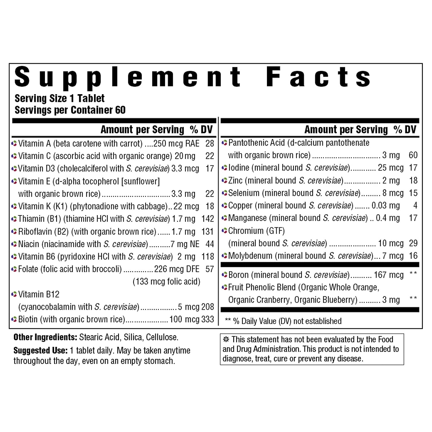 MegaFood, Kids One Daily, Daily Multivitamin and Mineral Dietary Supplement with Vitamins, C, D and Folate, Non-GMO, Vegetarian, 60 Tablets 60 Servings FFP