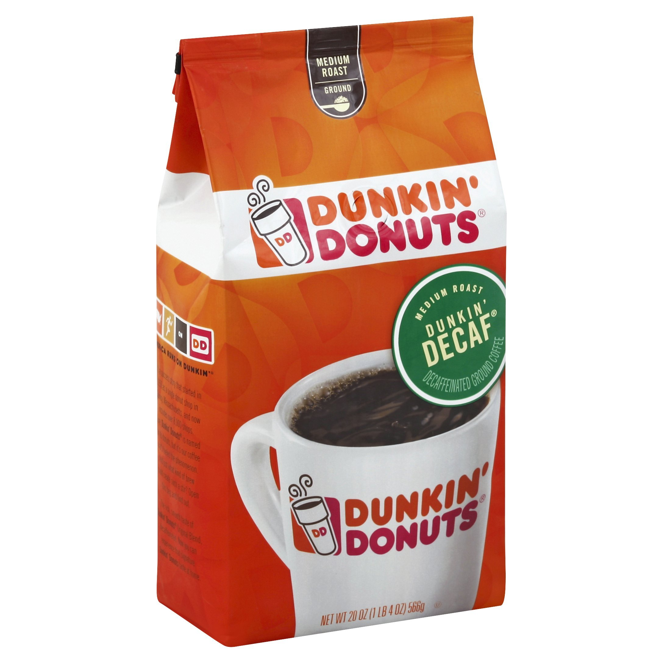 Dunkin' Donuts Original Blend Ground Coffee, Decaf, Medium Roast, 20 Ounces (Pack of 6) by Dunkin' Donuts