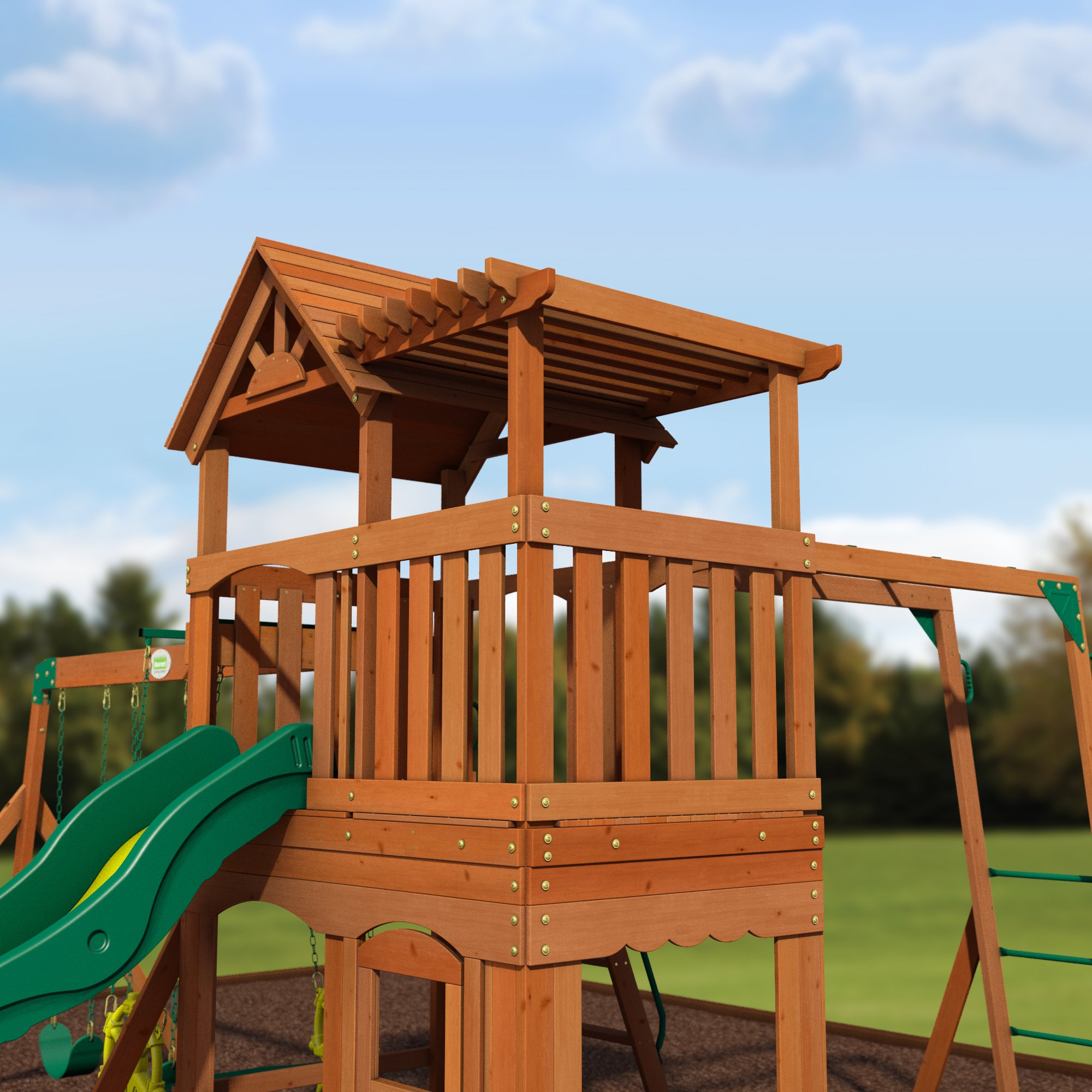 Backyard Discovery Thunder Ridge All Cedar Wood Playset Swing Set by Backyard Discovery (Image #5)