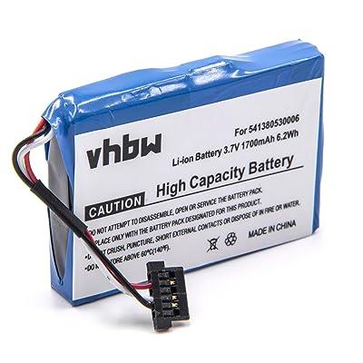 vhbw Batería Li-Ion 1700mAh (3.7V) para GPS Navigation Becker Professional 50 LMU