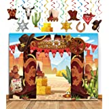 TMCCE Western Cowboy Party Decoration Wild West Cowboy Western Photography Backdrop Background And Western Cowboy Theme Hangi