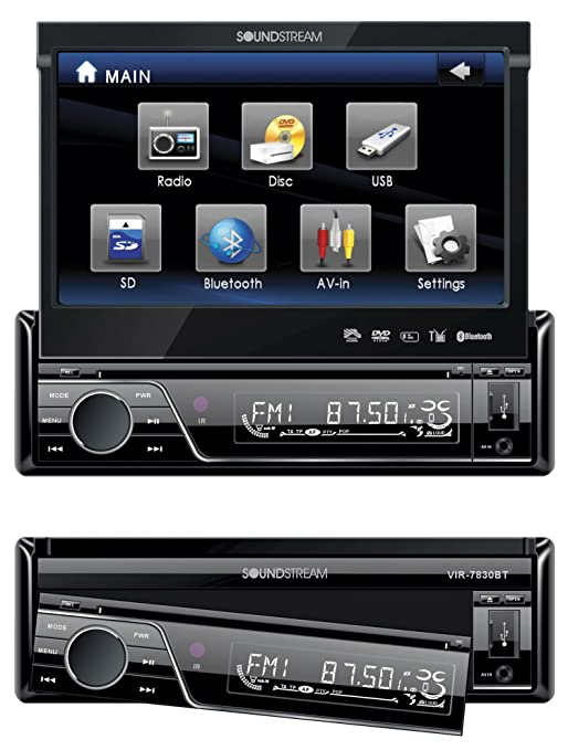 81t3Zah1dAL._SY679_ amazon com soundstream vir7830 7 inch flip up touch screen car soundstream vir-7870nrb wire harness at alyssarenee.co