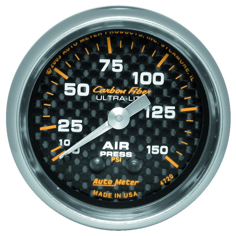 Auto Meter 4720 Carbon Fiber Mechanical Air Pressure Gauge