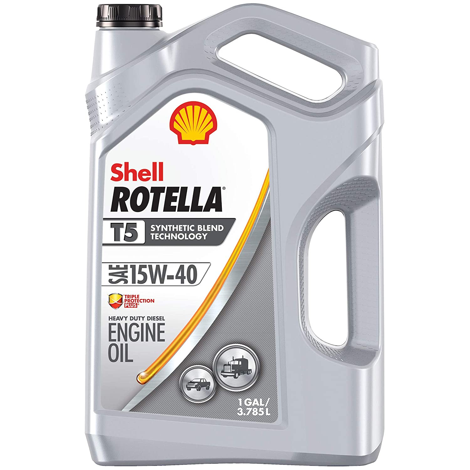 15w40 Diesel Oil >> Shell Rotella T5 Synthetic Blend 15w 40 Diesel Engine Oil 1 Gallon Single Pack