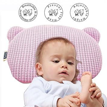 Amazon.com: Bebé recién nacido almohada, almohada de dormir ...