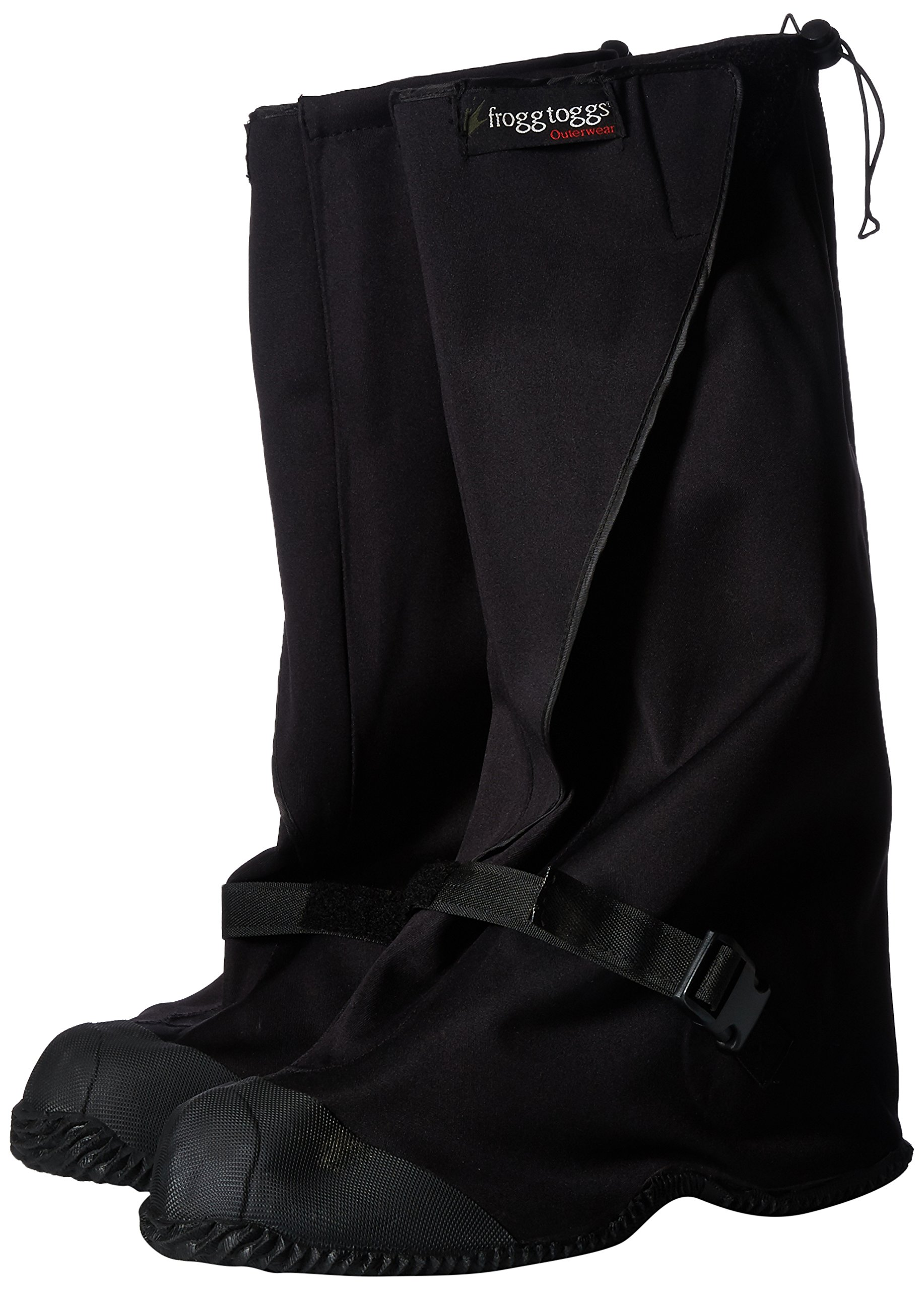 Frogg Toggs Leggs Black Waterproof Overshoe and Gaiters, L/XL (11-13)