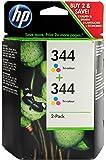 HP 344 - 2-pack Tri-color Inkjet Print Cartridges (C9505EE)