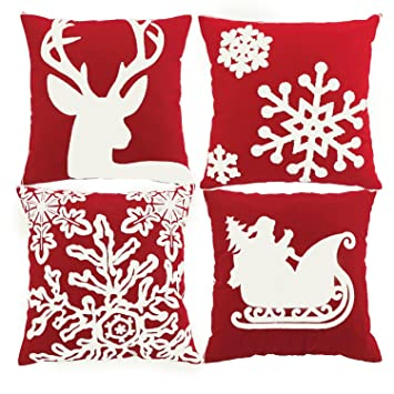 Amazon.com: Funda de almohada decorativa de la serie Feliz ...
