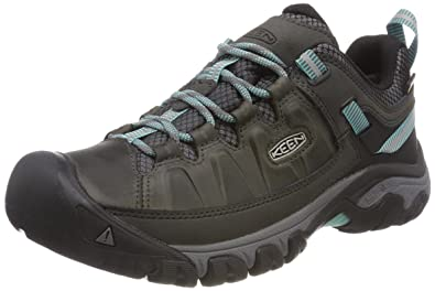 4d89facffe4b KEEN Women s s Targhee III WP Low Rise Hiking Shoes Black Alcatraz Blue  Turquoise