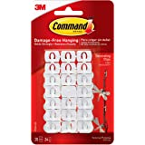 Command Light Clips, White, White, Decorate Damage-Free (17026-ES), 20 Clips