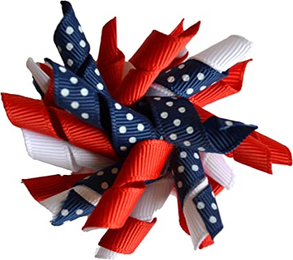 Spike Hair Bow Fourth of July Hair Bow Red White and Blue Hair Bow Uncle Sam Hair Bow 4th of July Hair Bow