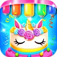 Rainbow Glitter Birthday Cake Maker - Kids Baking & Dessert Games