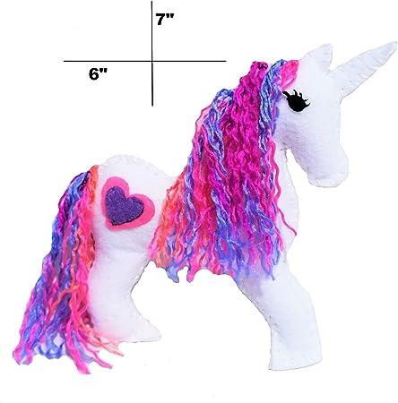 Children Loop Scarf Unicorns Scarf Loop Glitter Rosa White Blue Unicorn