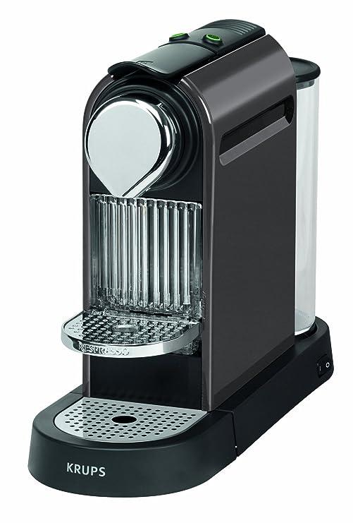 Krups Citiz - Cafetera Nespresso, 19 bares, 1260 W, depósito de agua de 1 litro, 16 cápsulas de degustación