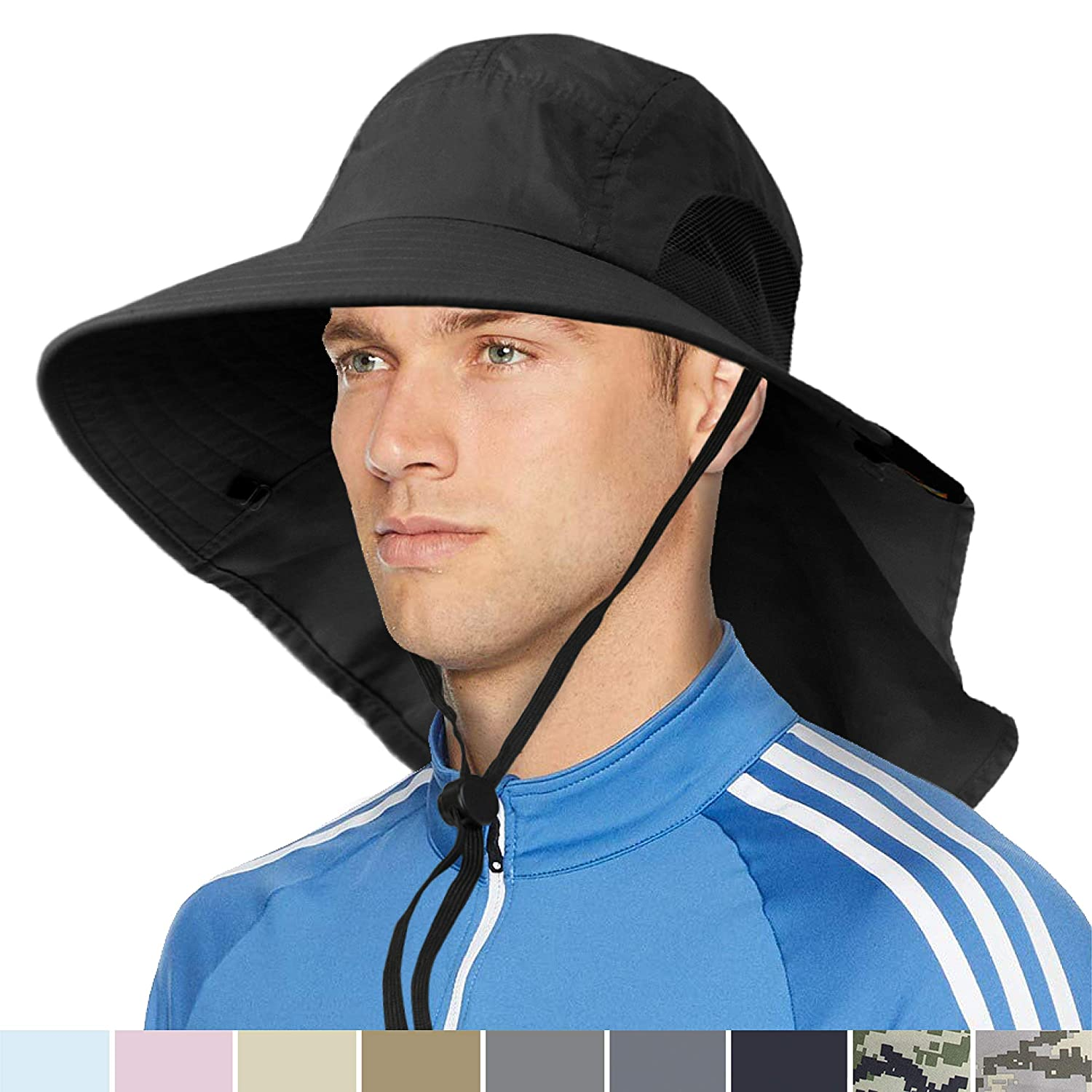 551e795e6 SUNCUBE Outdoor Wide Brim Sun Hat with Neck Cover Flap | Men, Women Summer  Sun Protection Hat UPF 50+ for Hiking, Fishing, Gardening | Breathable, ...