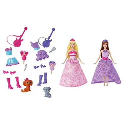 Barbie The Princess and The Popstar Mini-Doll Giftset: Toys & Games