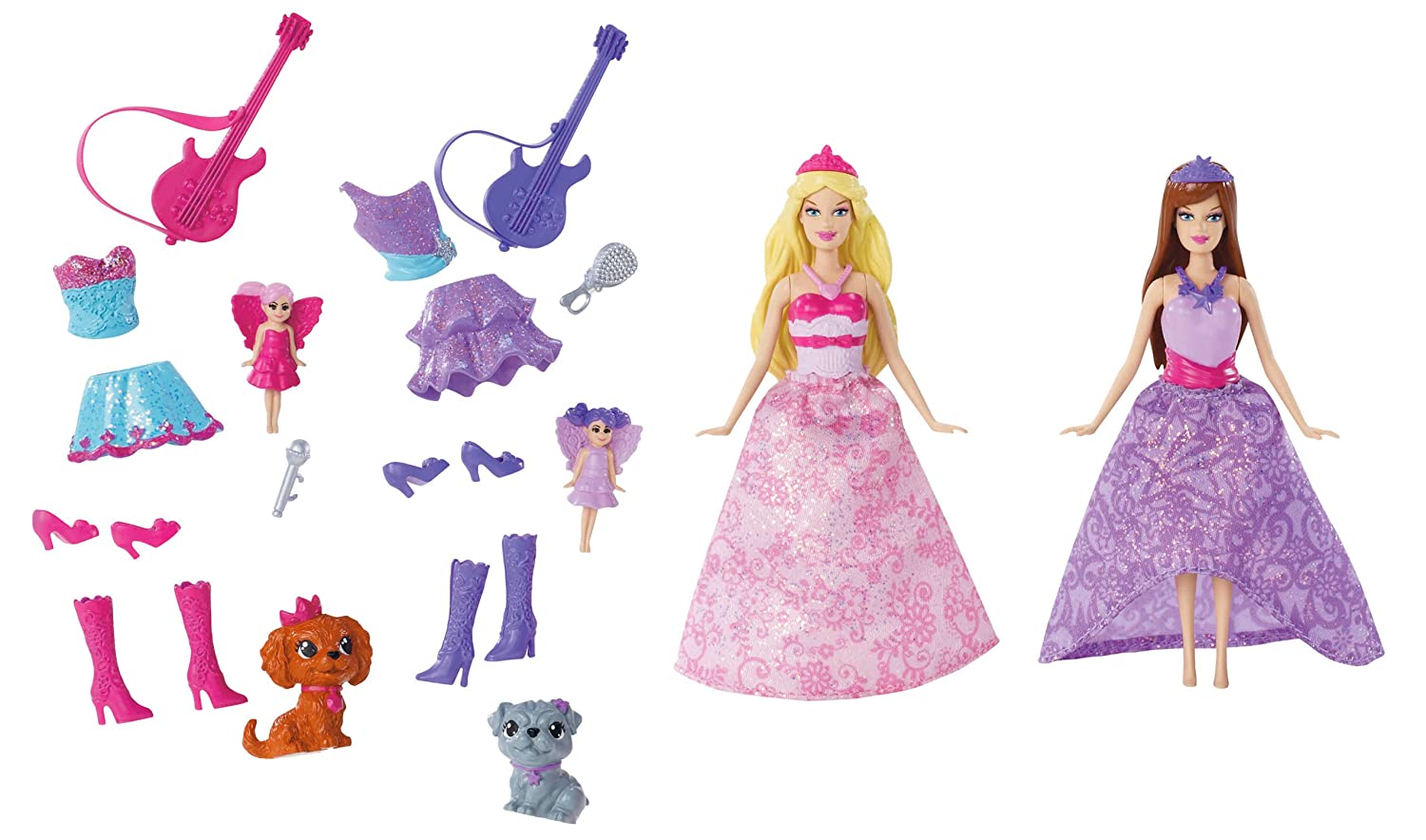Barbie The Princess and The Popstar Mini-Doll Giftset by Barbie by Barbie