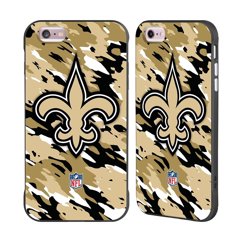Ufficiale NFL Strisce New Orleans Saints Logo Nero Fender Case per Apple iPhone 7/iPhone 8 Head Case Designs H6001-IPH7-NFLLOORL-STR