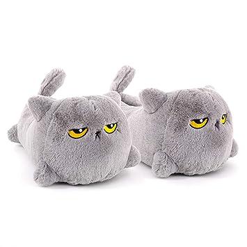 f473d9f00402 Smoko Grumpy Cat Heated Slippers