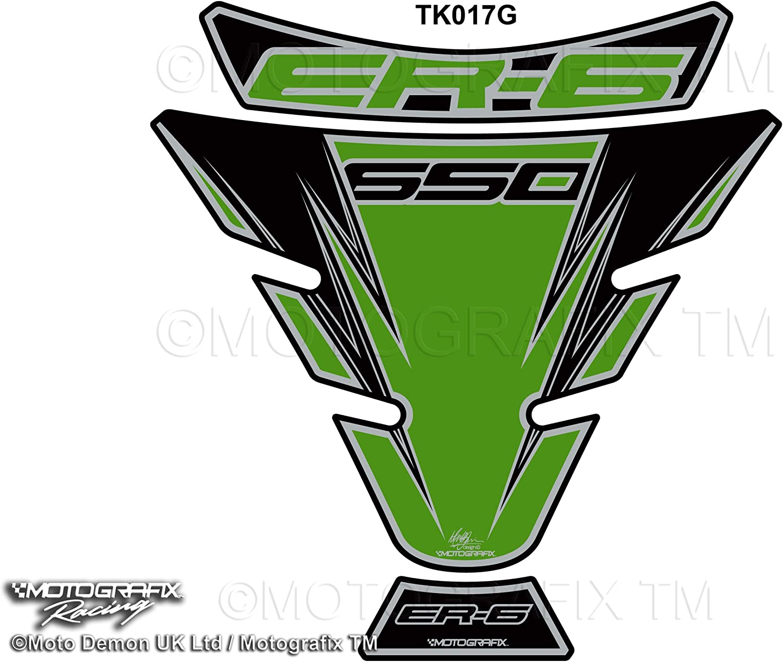 Motografix Kawasaki ER6 F//N EX650 2006-2014 Green Motorcycle Tank Pad Tankpad Protector 3D Gel Protection TK017G