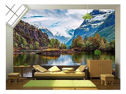 2aba92ec47 Amazon.com  wall26 - Beautiful Nature Norway Natural Landscape ...