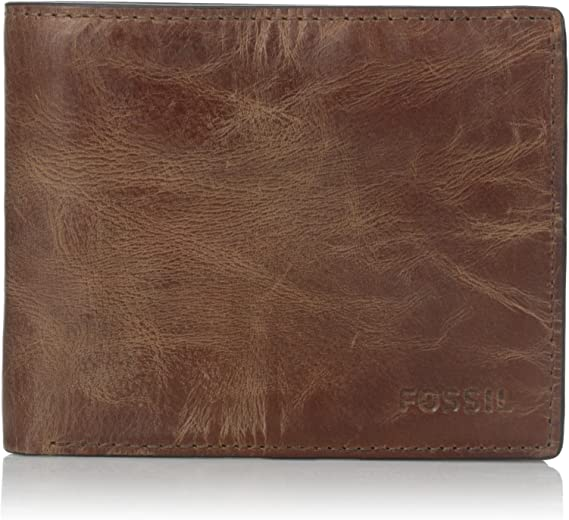 Fossil Men/'s Hugh Rfid Flip Id Bifold Leather Wallet