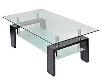 Amazon.de: Glastisch Beistelltisch Wohnzimmertisch Couchtisch aus ...