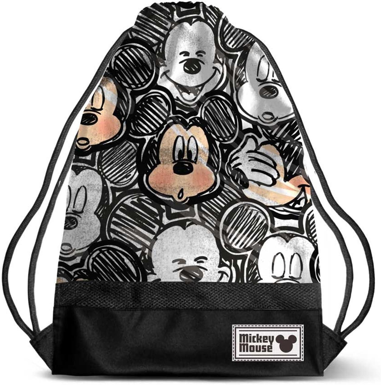 Noir Black 47 cm Karactermania Disney Classic Mickey Oh Boy-Storm Drawstring Bag Sac /à Cordon
