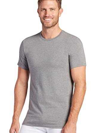 Jockey Men's T-Shirts Slim Fit Stretch Crew Neck - 2 Pack, cinder heather