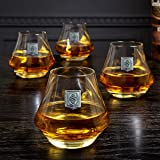 DiMera Regal Crested Whiskey Glasses