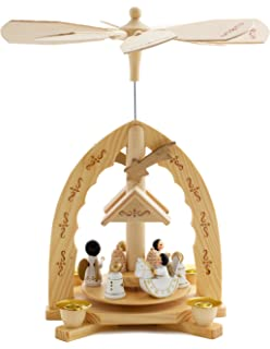 Amazon christmas decoration pyramid 18 inches nativity play 3 brubaker christmas decoration pyramid 12 inches nativity play christmas scene with handpainted angels handpainted solutioingenieria Image collections