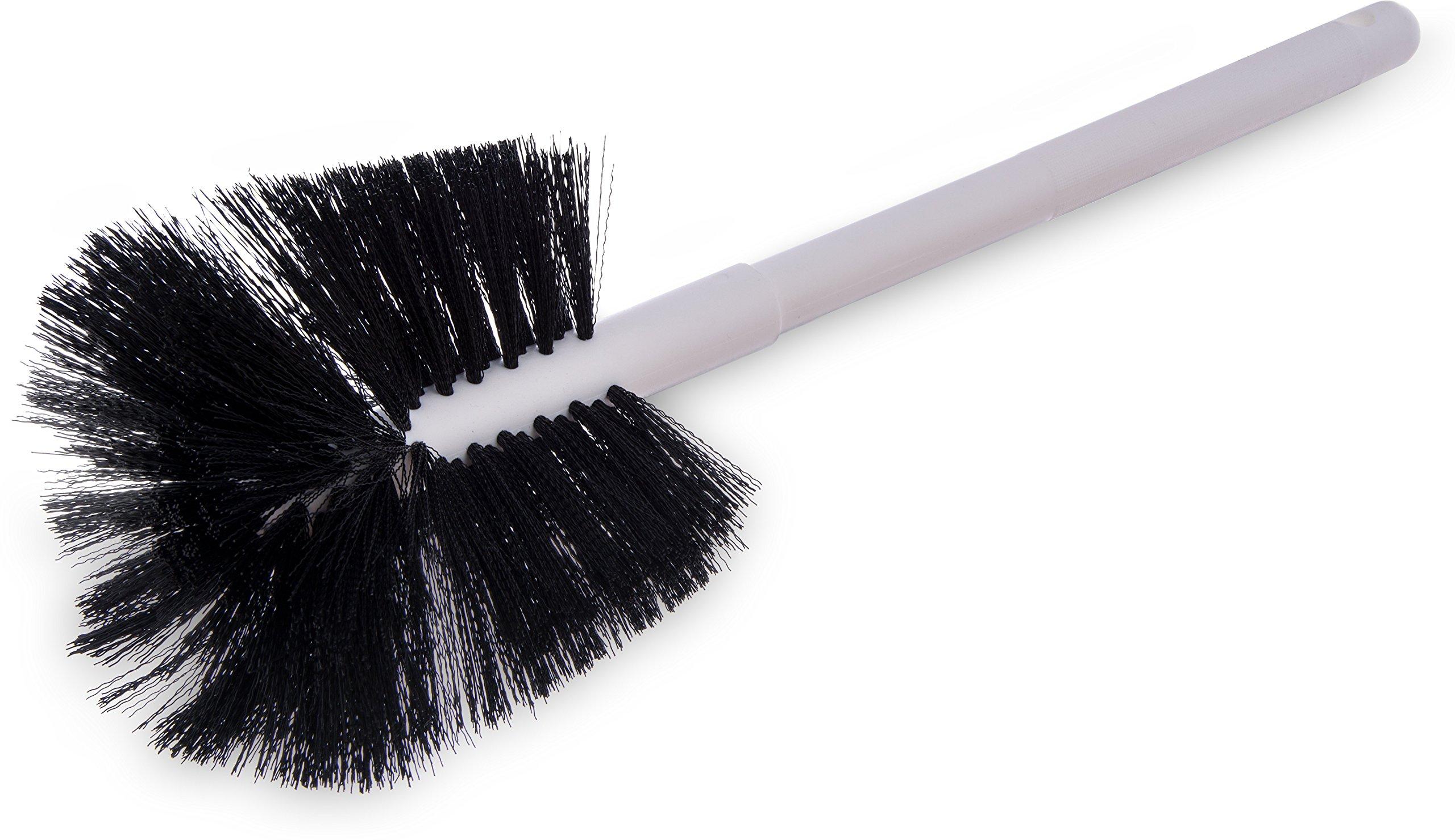Carlisle 4002500 Sparta Coffee Decanter Brush, Soft Polyester Bristles, 6-1/2'' Bristle Diameter, 4-1/2'' Brush Length, 16'' Overall Length (Pack of 6)