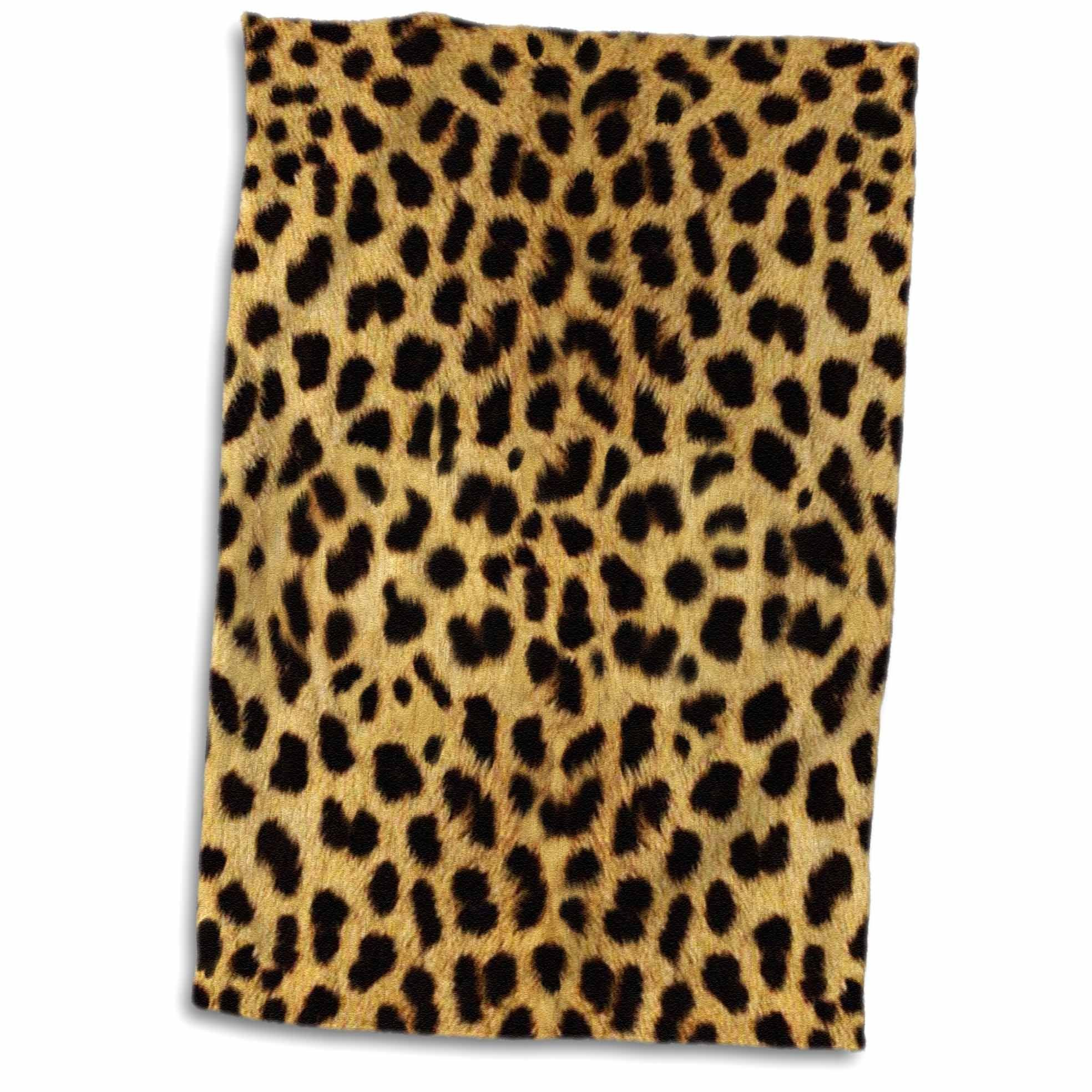 3D Rose Cheetah Animal Print TWL_20340_1 Towel, 15'' x 22''
