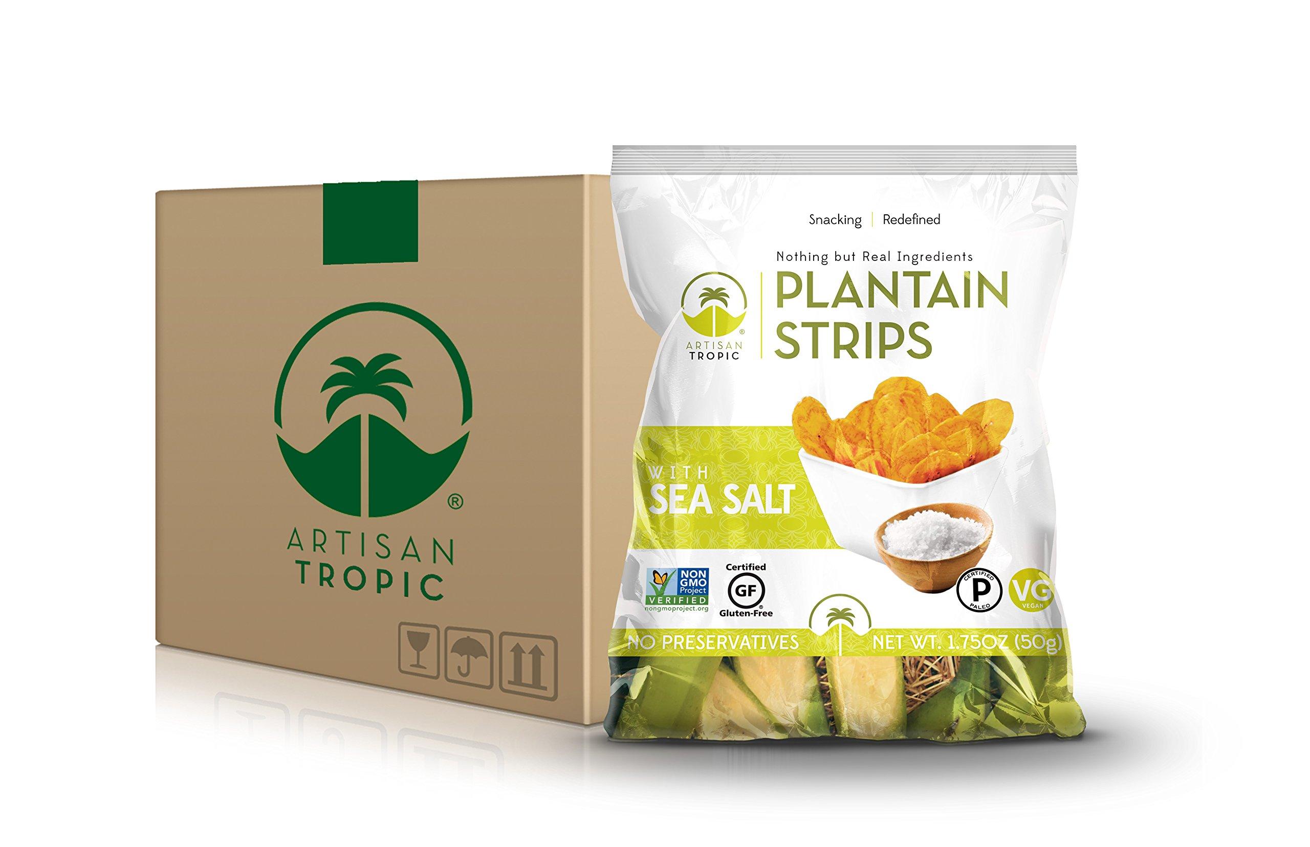 Artisan Tropic Plantain Strips: Sea Salt 1.75oz (16 pack) by Artisan Tropic (Image #1)