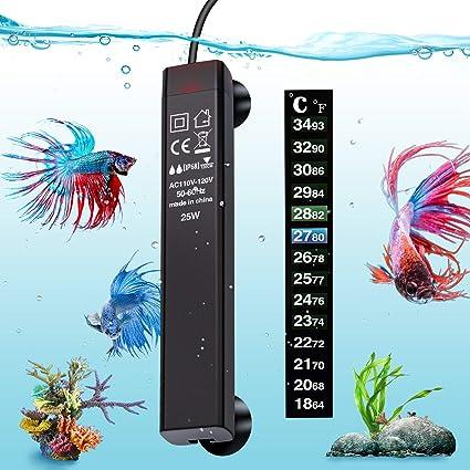 Amazon.com: VIBIRIT calentador de acuario, calentador de ...