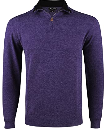 Yves Enzo - Pull col Camionneur - Homme - Violet  Amazon.fr ... 75654e1f968a