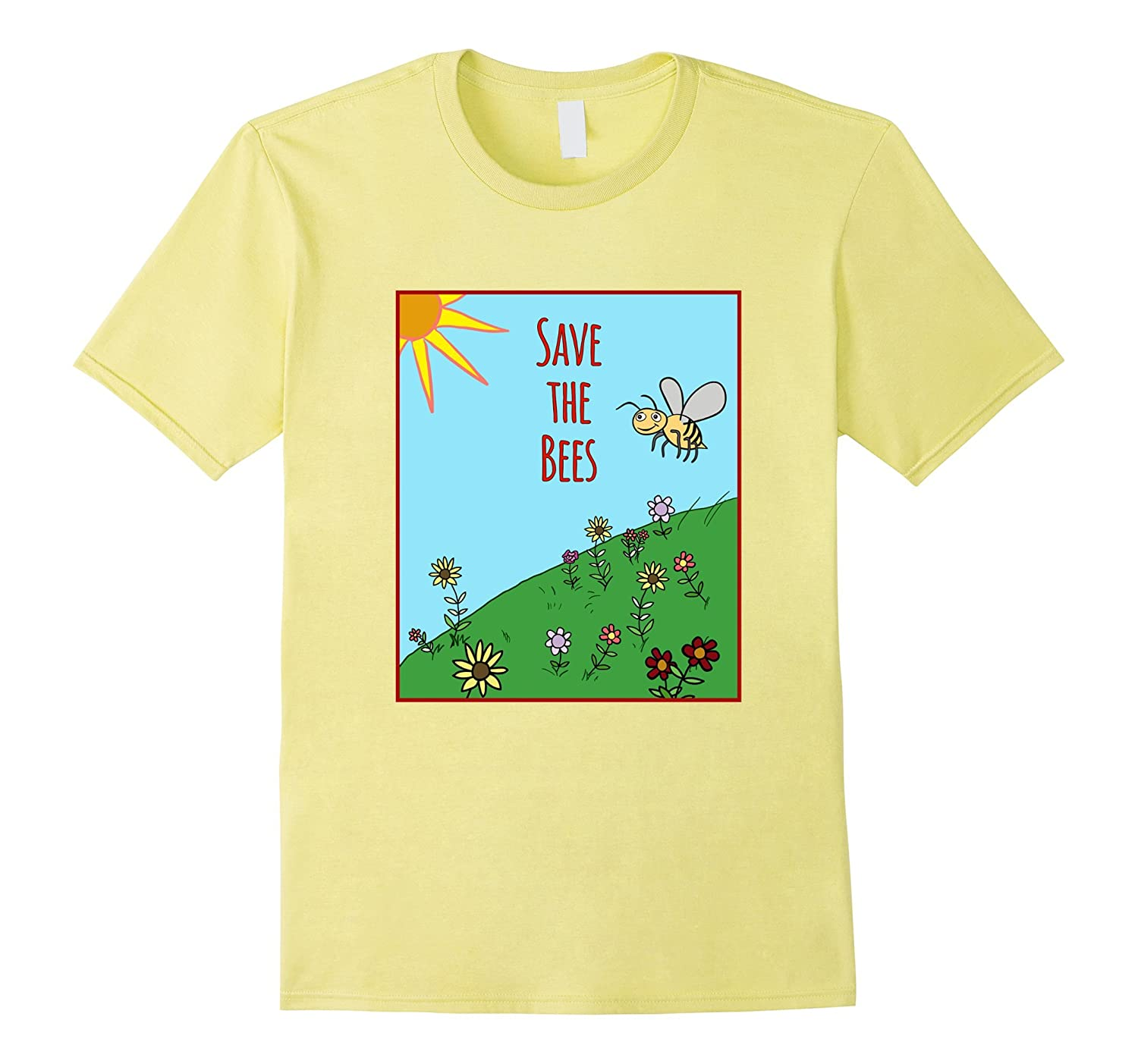 Save the Bees Artsy T-Shirt For Gardeners And Bee Lovers-TD