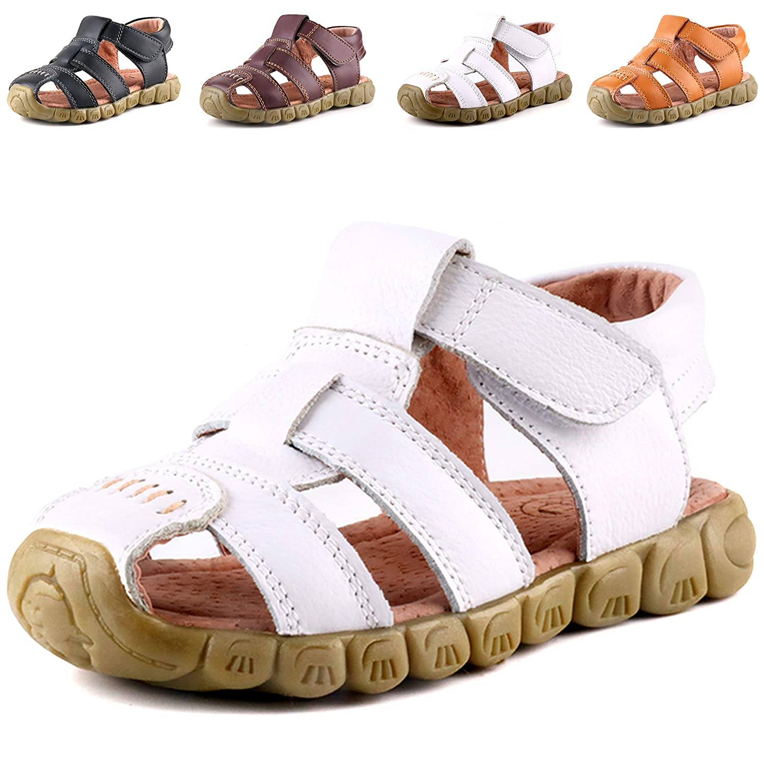 302aed3c6 Amazon.com  Femizee Closed-Toe Casual Outdoor Sandals for Boys Girls(Toddler Little  Kid Big Kid)  Shoes