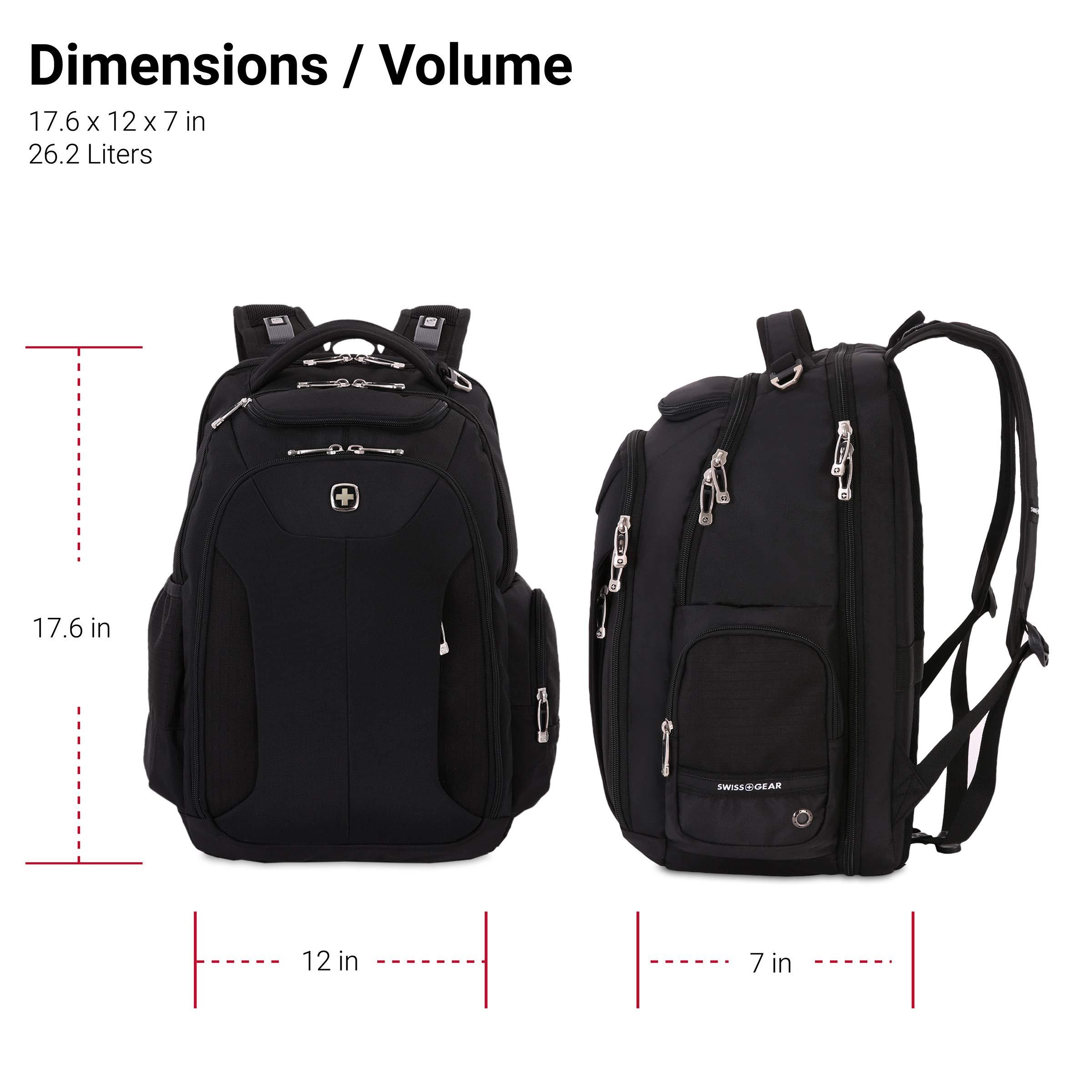 SWISSGEAR Large ScanSmart 15-inch Laptop Backpack   TSA-Friendly Carry-on   Travel, Work, School   Men's and Women's - Black by SwissGear (Image #6)