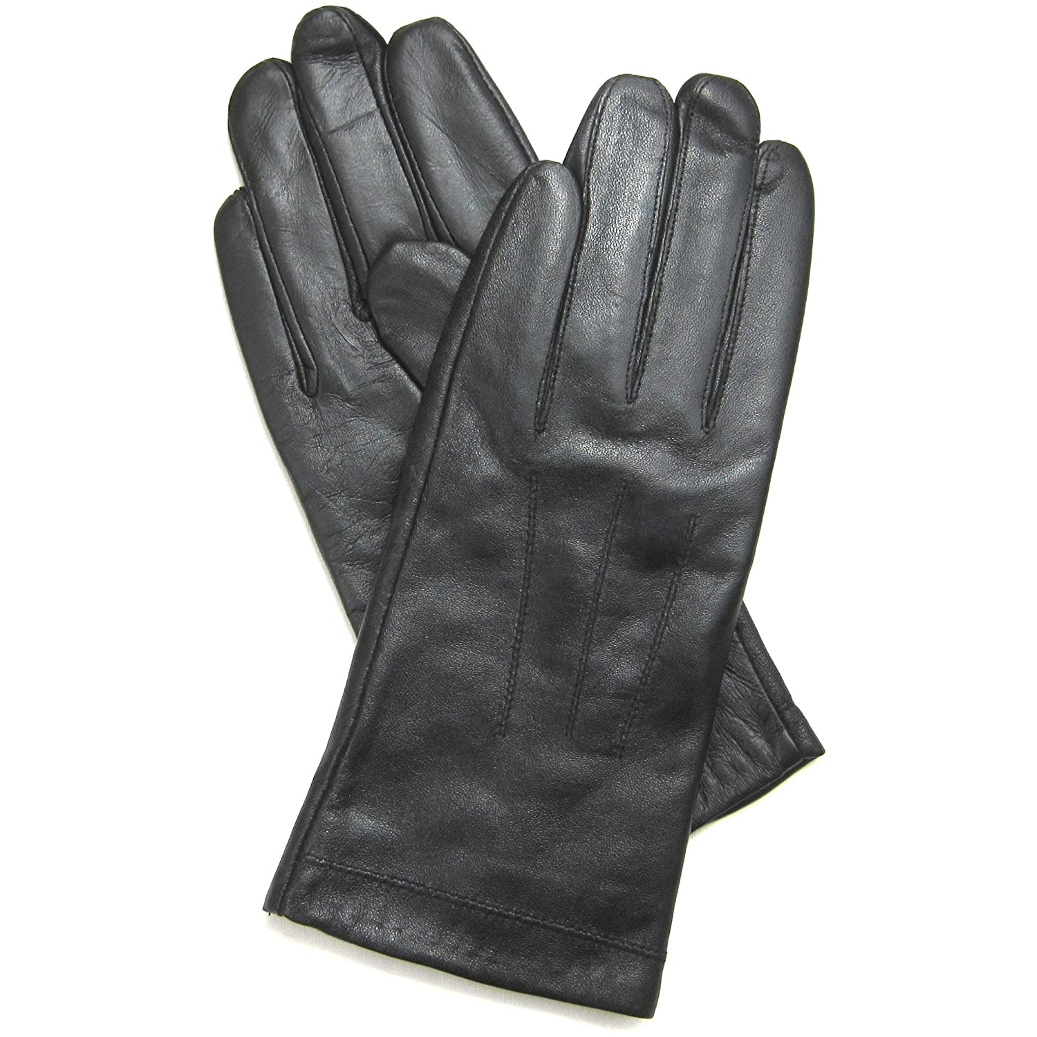 Extra small ladies leather gloves uk - Ladies Luxury Soft Genuine Black Leather Gloves With Full Fleece Lining And 3 Point Stitch