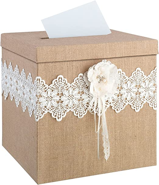 200 Rustic Country Burlap Lace Personalized Match Box Bridal Wedding Favors