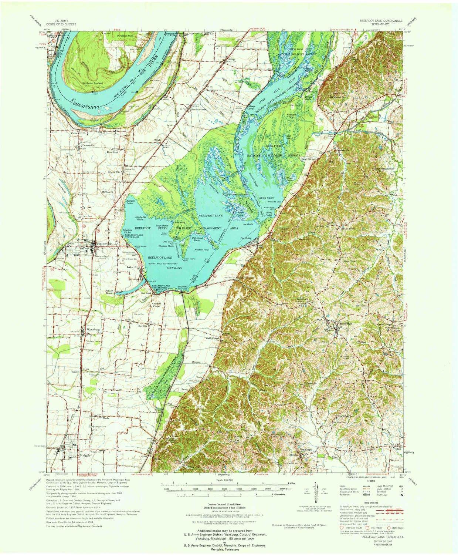 Amazon com: Reelfoot Lake TN topo map, 1:62500 Scale, 15 X