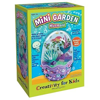 Creativity for Kids Mini Garden - Mermaid Terrarium – Mermaid Gifts for Girls and Boys: Toys & Games